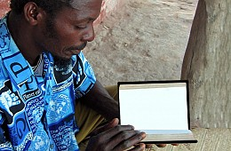 indigenous man reading the Bible