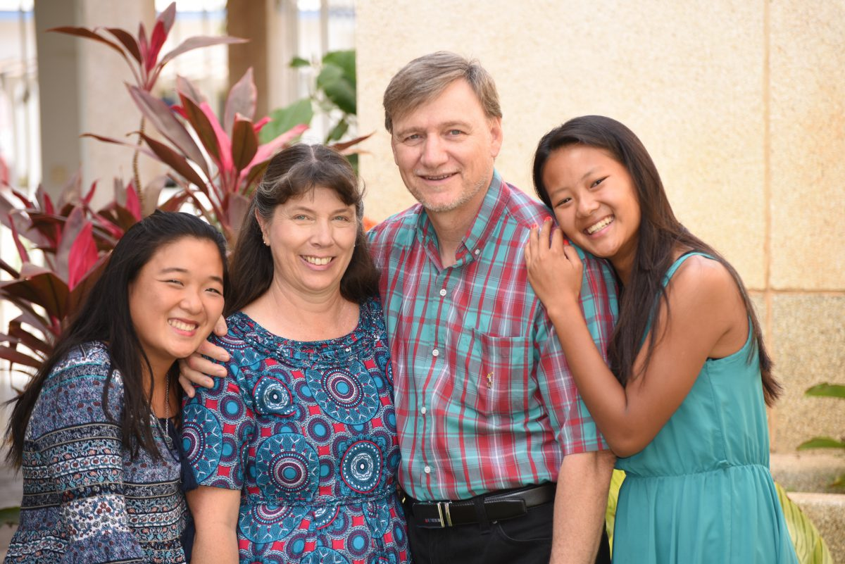 Rick and Muriel Oickle with their daughters