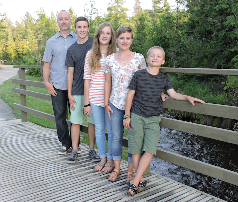 Pete and Faith Olver and their family at Ethnos Canada