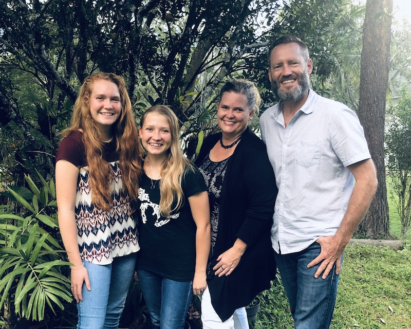 Joseph and Larissa Colyn with their daughters