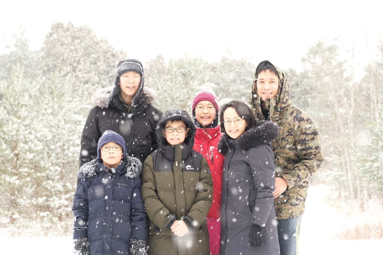Peter and Elaine Yoon with their children