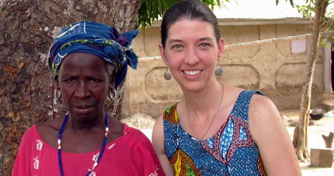 Janel with african woman