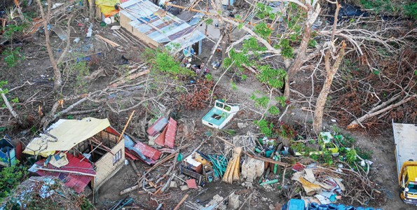 Ruins after typhoon