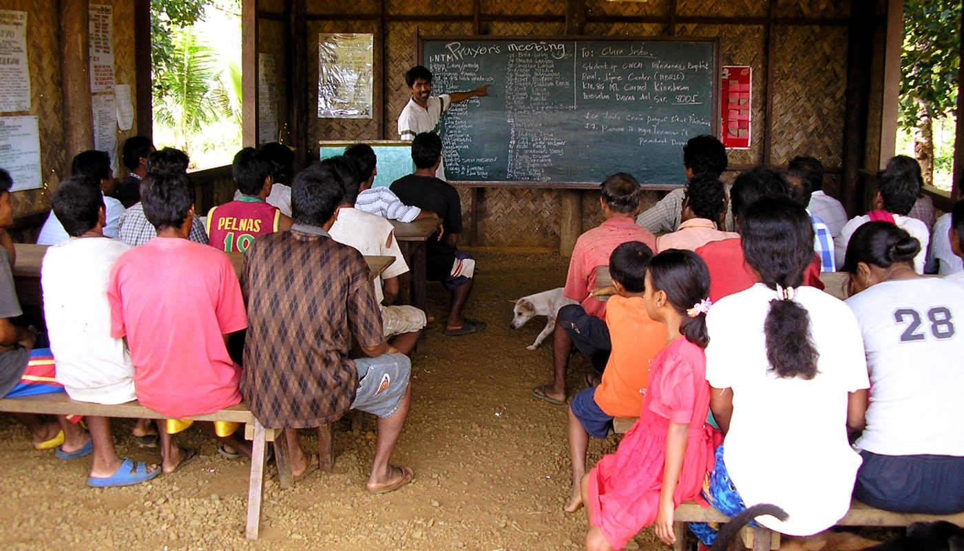 Indigenous teacher and classroom
