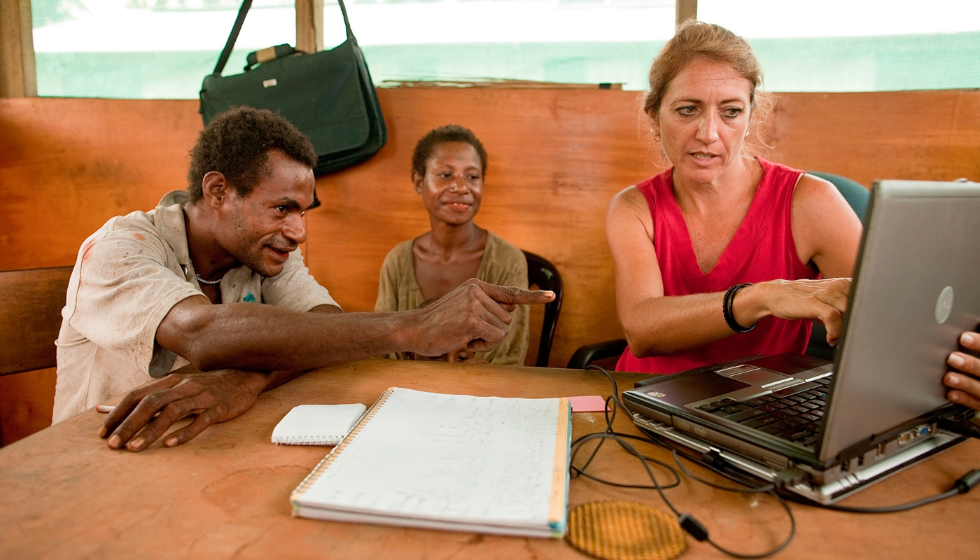 Lisa Kappeler and her Uriay co-workers translate the Bible.