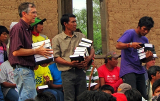 distributing bibles