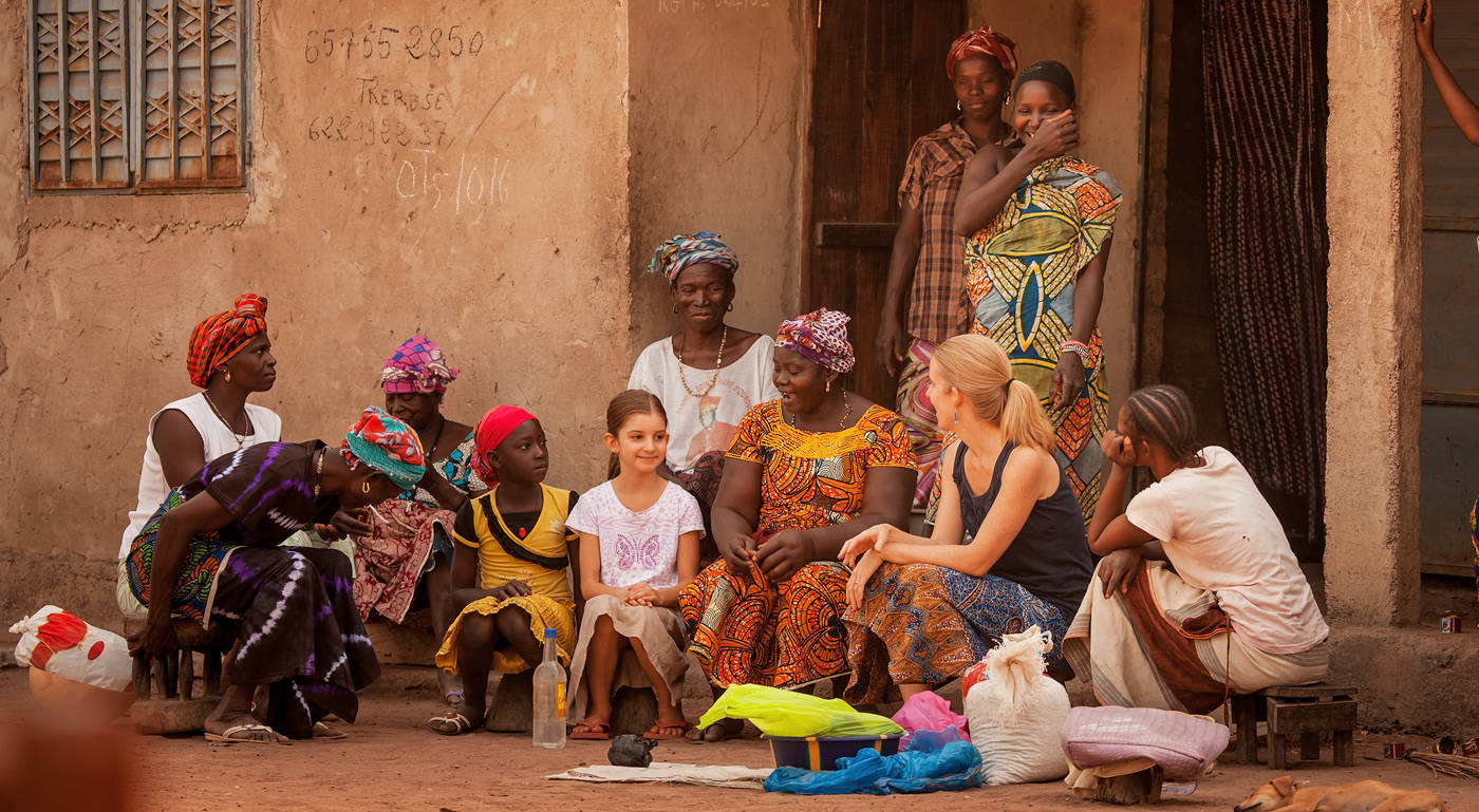 group of ladies in Africa