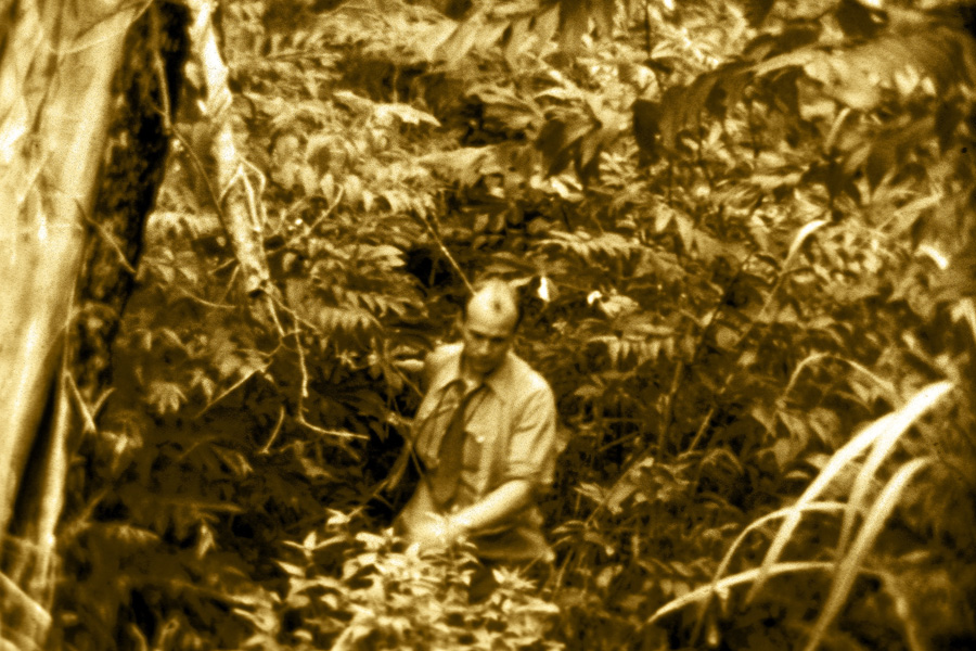 Cecil Dye in the jungles of Bolivia, where he would be martyred.