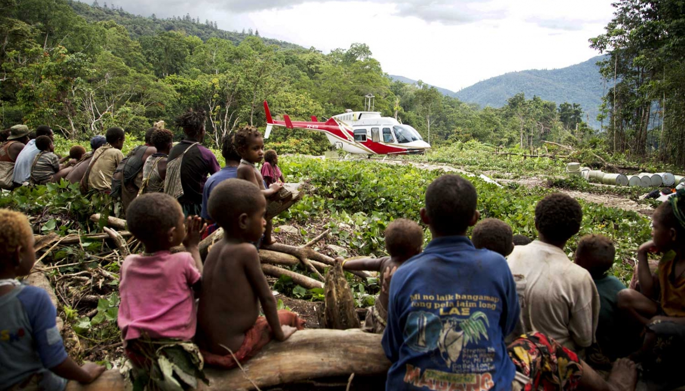 Helicopter in Jungle