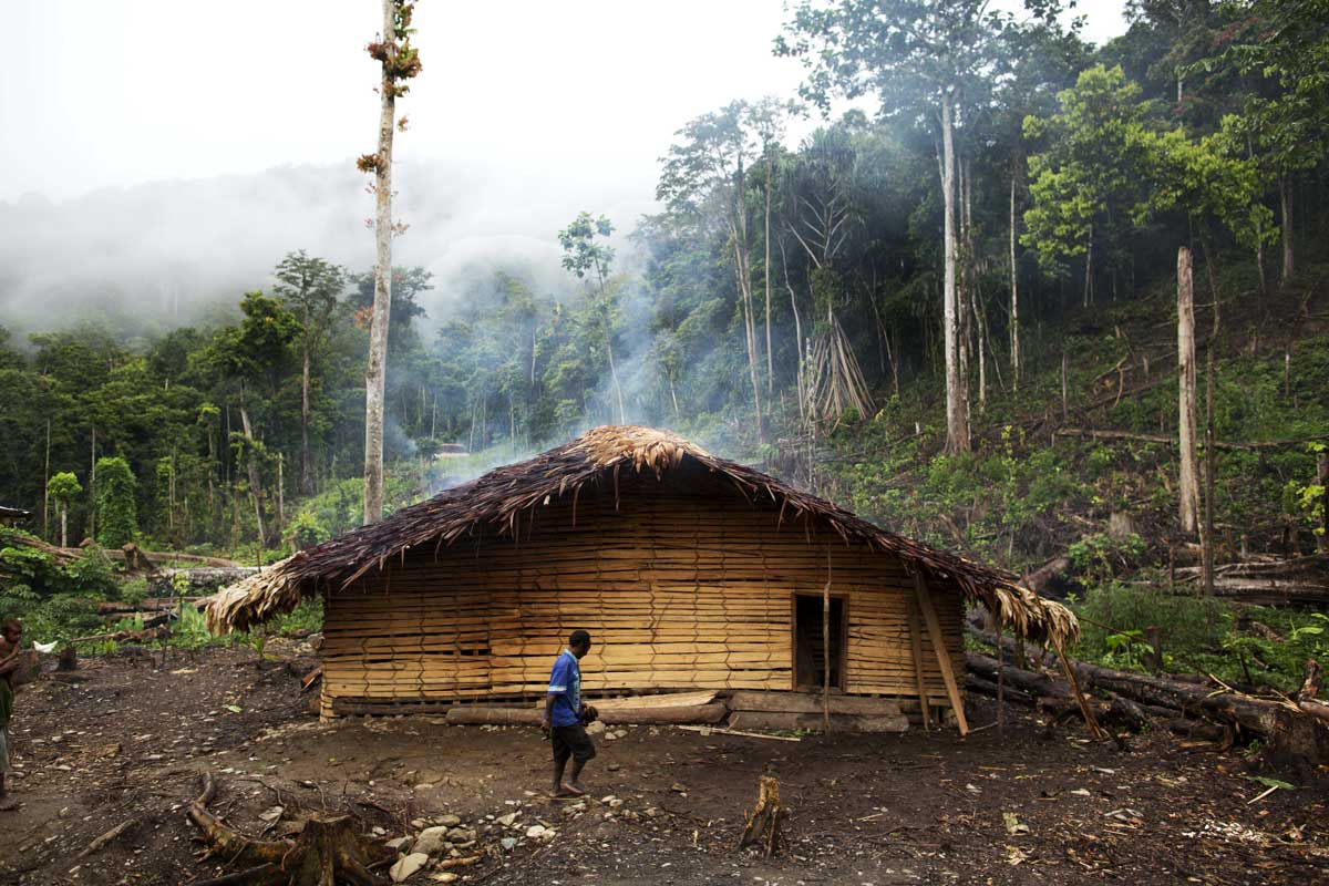 traditional home of Hewa people of Papua New Guinea
