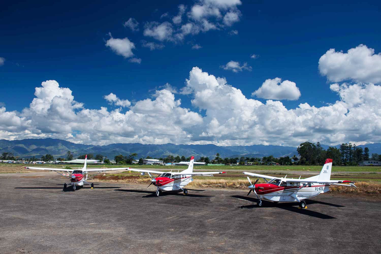 three kodiak airplanes in Papua New Guinea