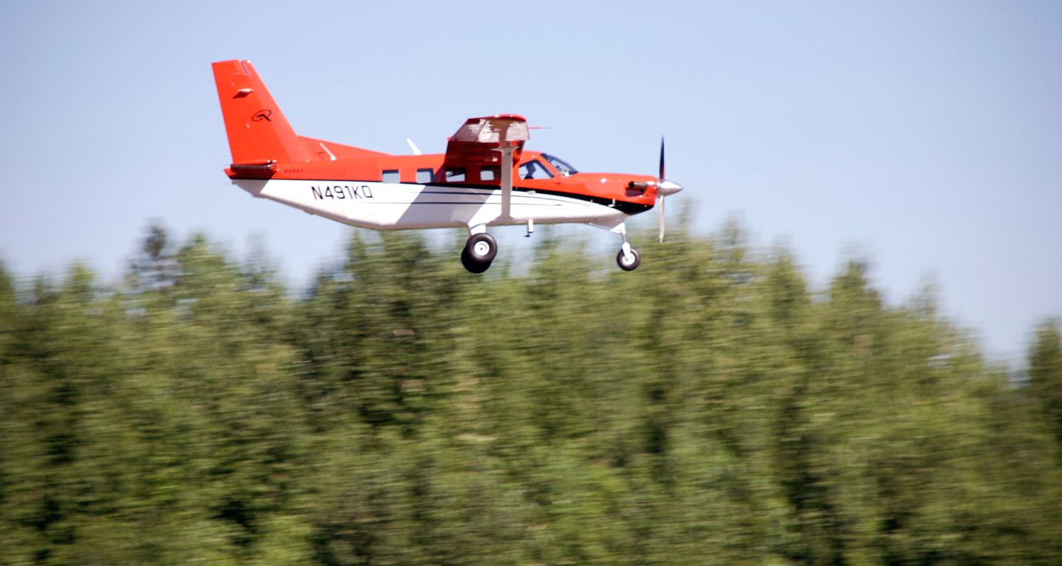 Kodiak aircraft in flight