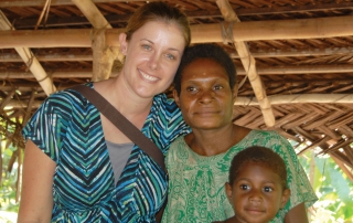 Papua New Guinea Missionary with woman and child