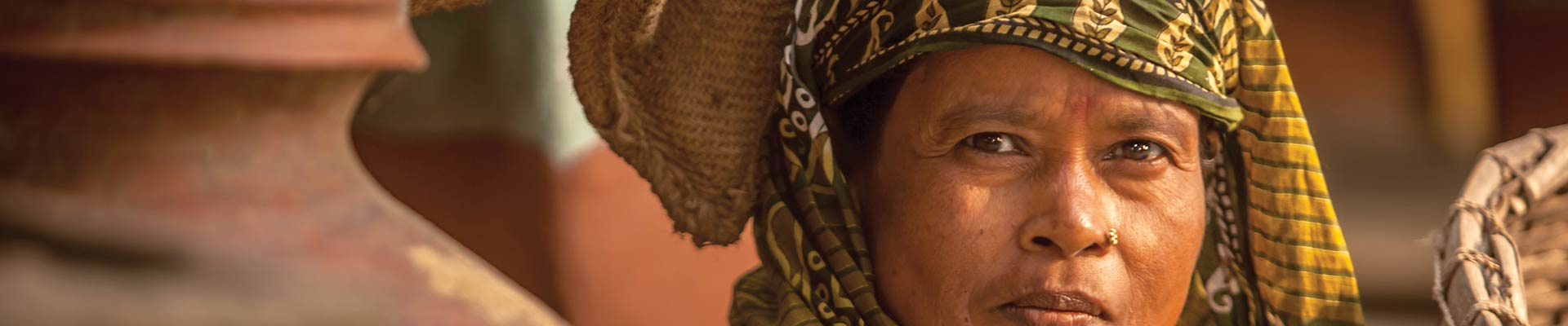 face of tribal woman