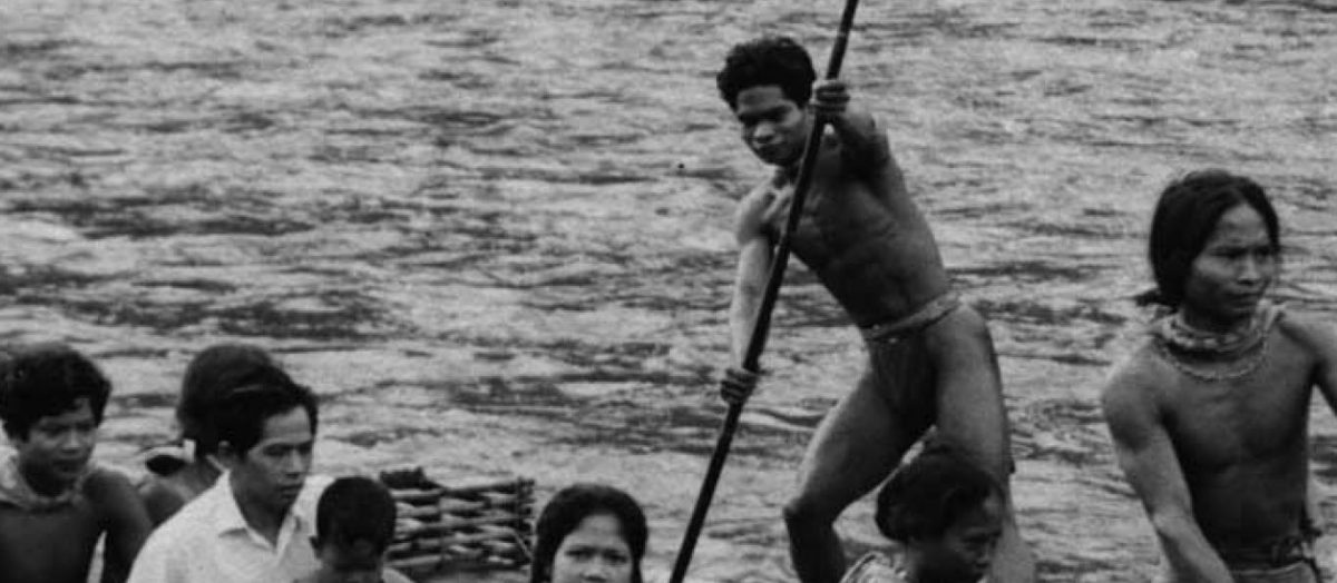 Historical Photo header - early missionaries in canoe