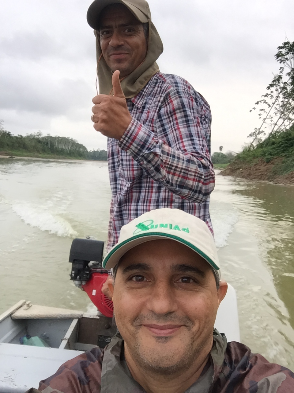 Traveling in Boat in River