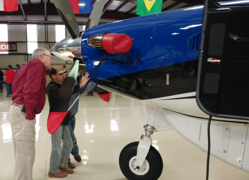 The Kodiak fascinated viewers, with its state-of-the-art equipment designed just for mission aviation, explained here by Tim Hughes.