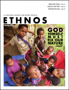 Ethnos Magazine September 2018 cover - tribal kids looking up at the camera