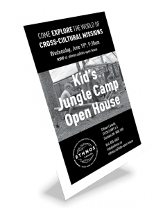 kids' jungle camp flyer that can be downloaded