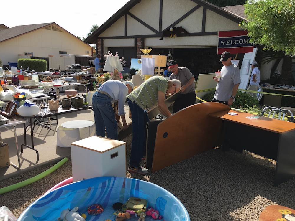 yard sale to raise money for missionaries