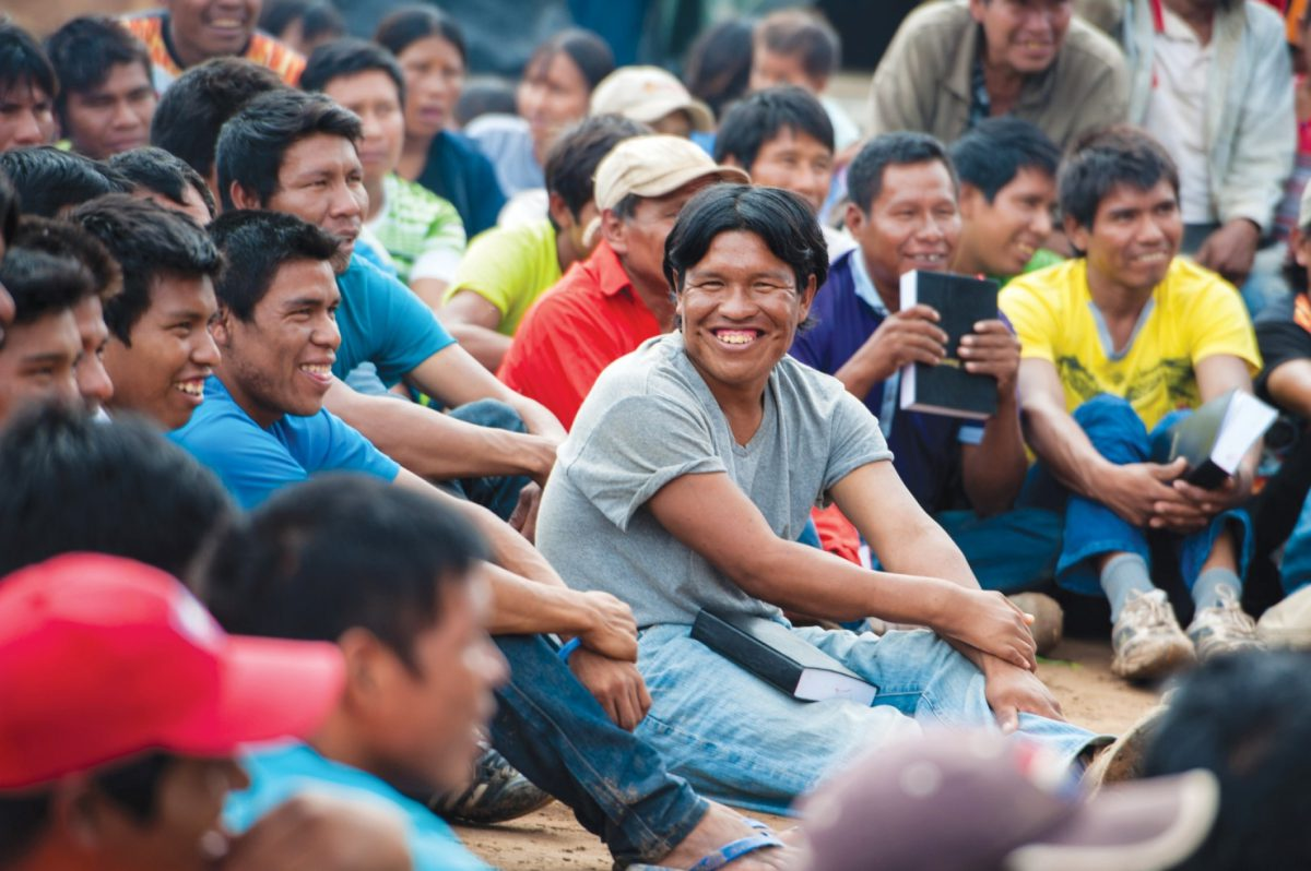men happy to have the Bible in their own language
