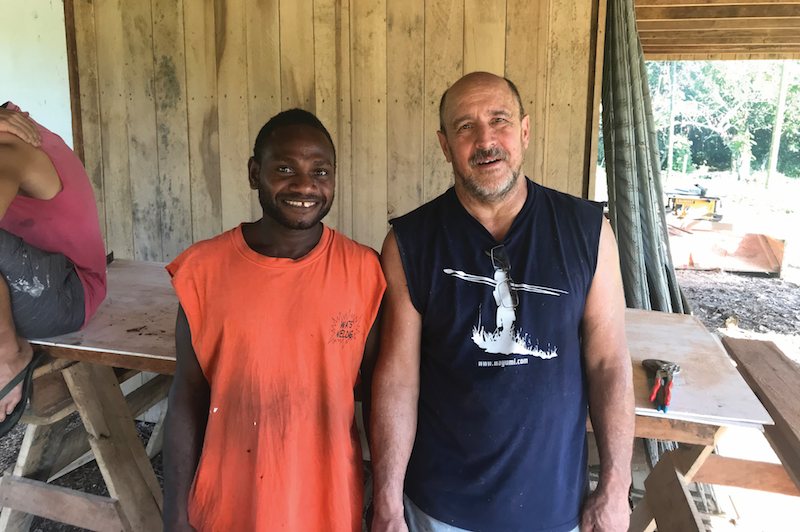 Cleon with a friend he met while on trip to Papua New Guinea