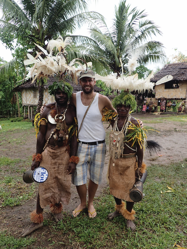 Seth with friends in Papua New Guinea