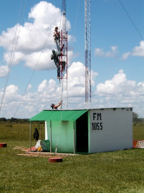 Chimane Radio Exterior with tower
