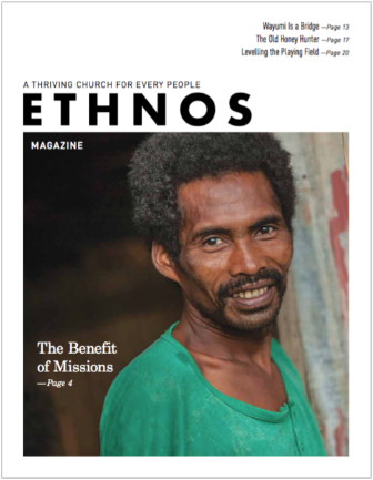 Sept 2019 Ethnos Magazine cover - smiling tribal man