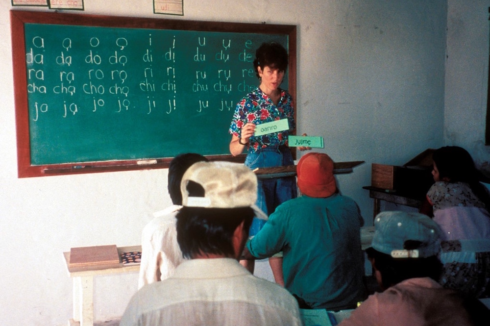 Ethnos Canada missionary teaching literacy in Latin America