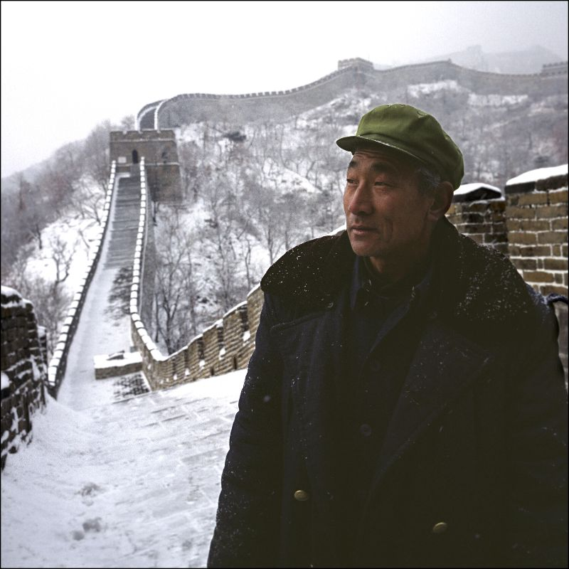 a Chinese man on the Great Wall - so many have yet to hear the gospel