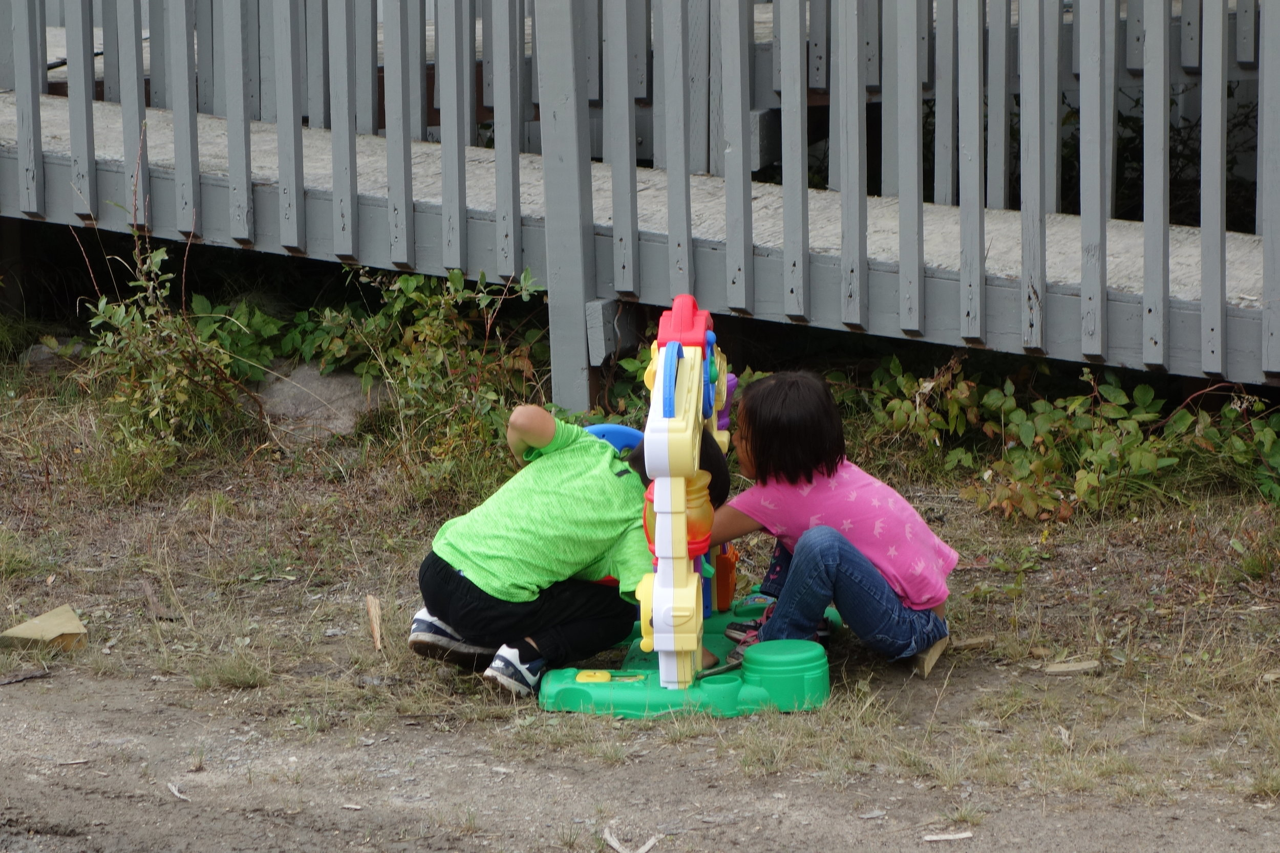 kids in North West Territories playing