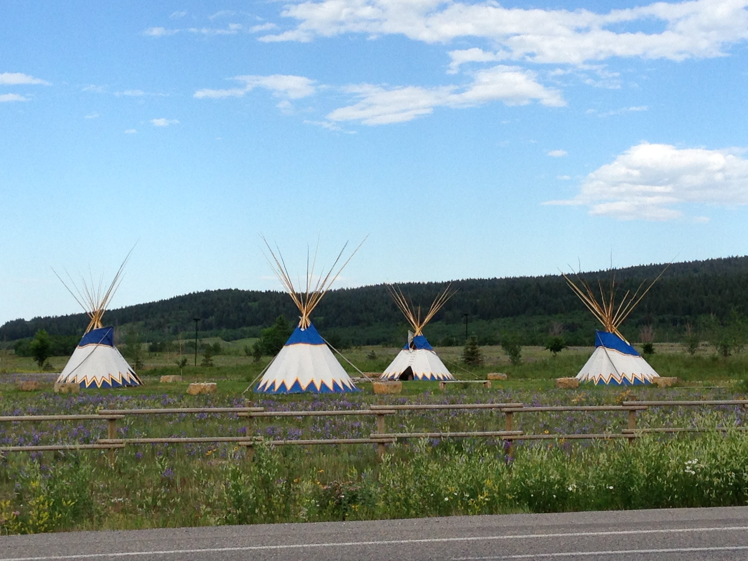 Siouxian Teepees near the foothills