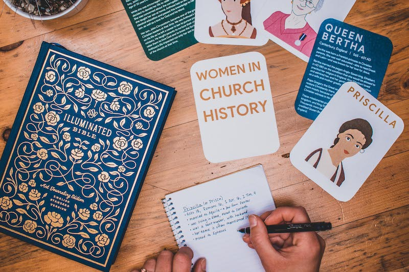 women in church history cards example