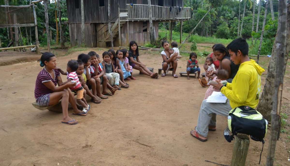 teaching among Guanano children