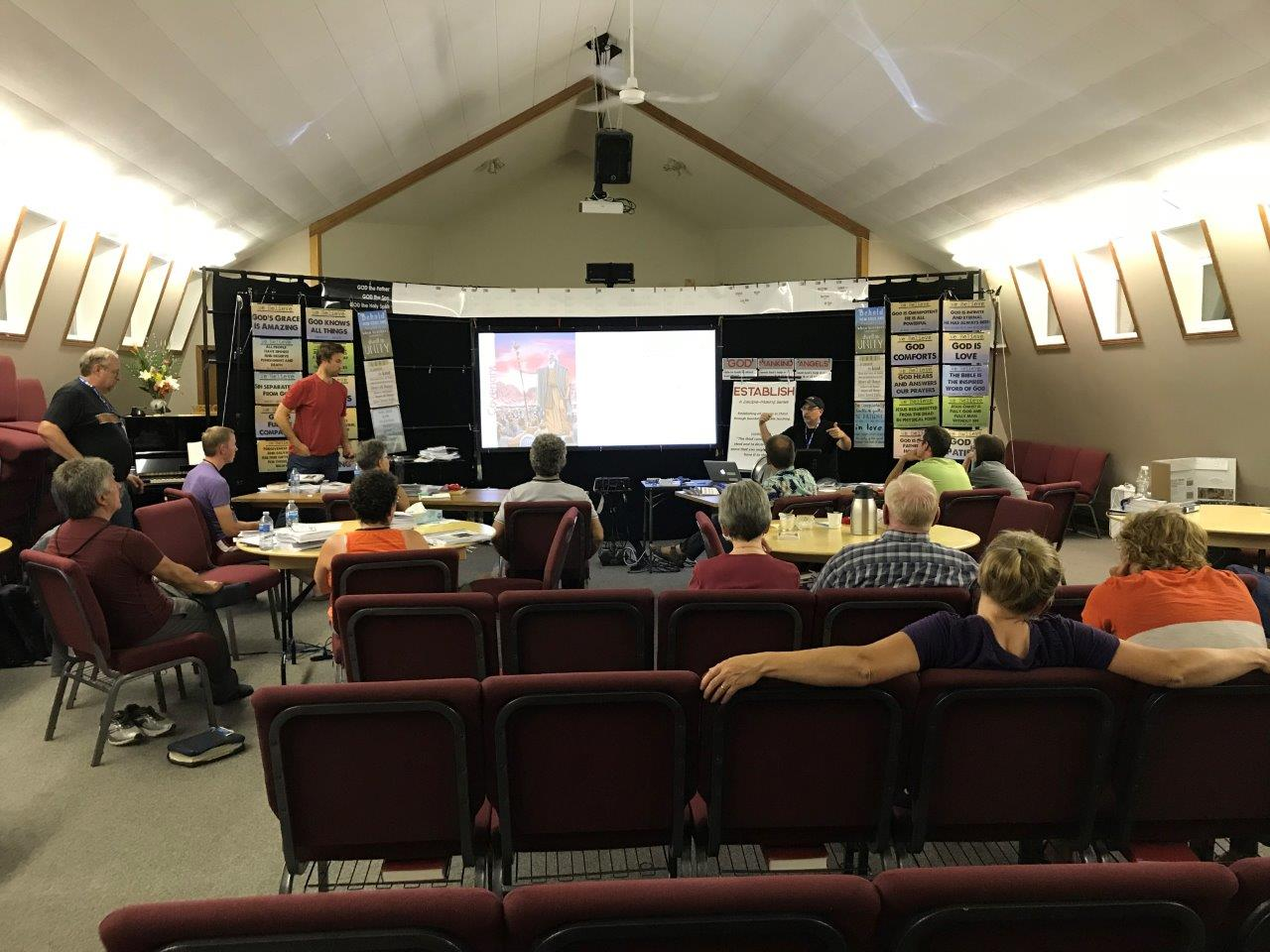 Craig Bauman, Ethnos Canada missionary, teaching at a church