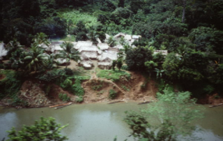 aerial view of a Kuna village
