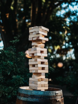 stack of blocks that are firm